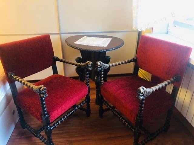 Stół fotele antyk Czarnków - image 1