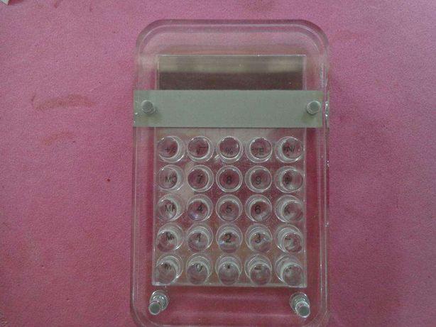 calculadora a pilhas original transparente