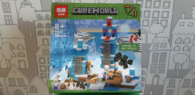 Блочный конструктор Lepin Minecraft Ледяные шипы (18025)