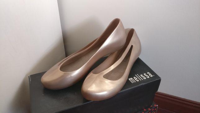 Sapato Melissa Night III, Dourado, Tamanho 39