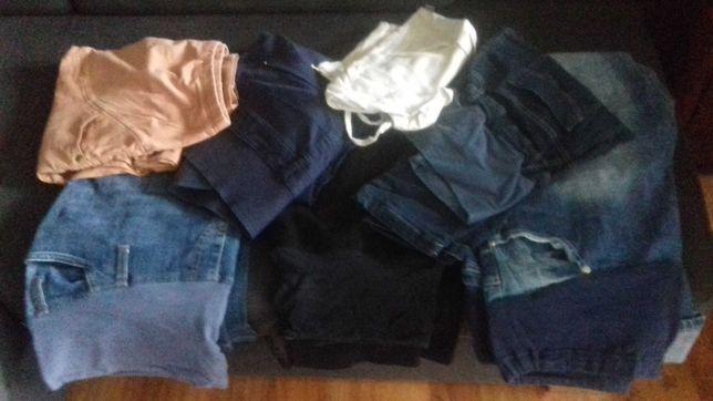 spodnie ciążowe 6szt i spódnica