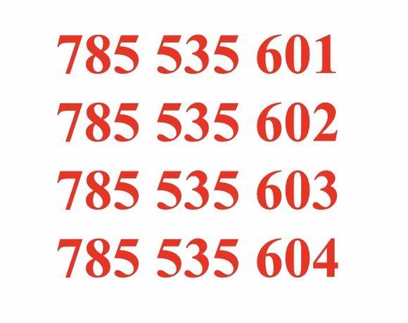 4x Starter złoty numer po kolei, dla rodziny, firmy