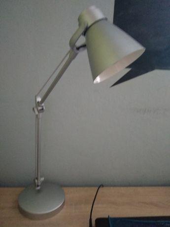 Lampka biurkowa srebrna