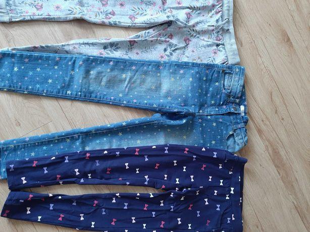 Spodnie dziewczęce 3 sztuki w cenie 23 zll