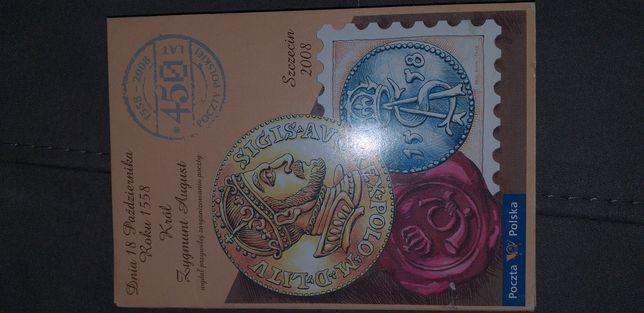Komplet pocztówek na rocznice 450 Poczty Polskiej