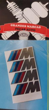 Autocolantes BMW M prateados
