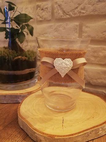Wazon / świecznik ślub rustykalny 10 sztuk