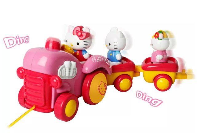 WYSYŁKA 1 ZŁ Nowy Hello Kitty duży traktor ciągacz zabawka