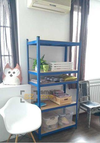 Стеллаж металлический синий 180х90х40см для дома, офиса, на балкон