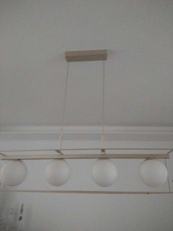 Candeeiro dourado fosco moderno 4 lâmpadas
