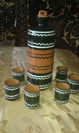 Набор для роммово- коньячных напитков из керамики СССР