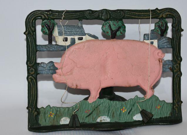старинный пюпитр подставка для нот/книг чугун свинья вес 2,14 кг винта