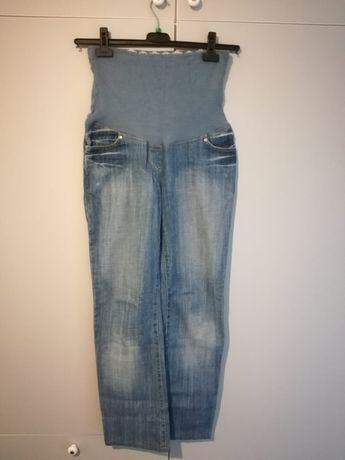 Jeansy ciążowe + legginsy