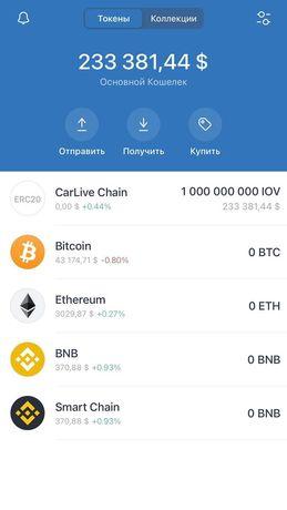 Carlive  chain крипто монета