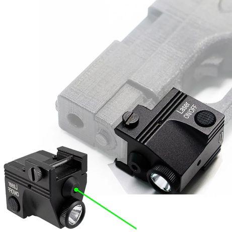 Зелёный лазерный прицел + led фонарь . Качество на высоте!