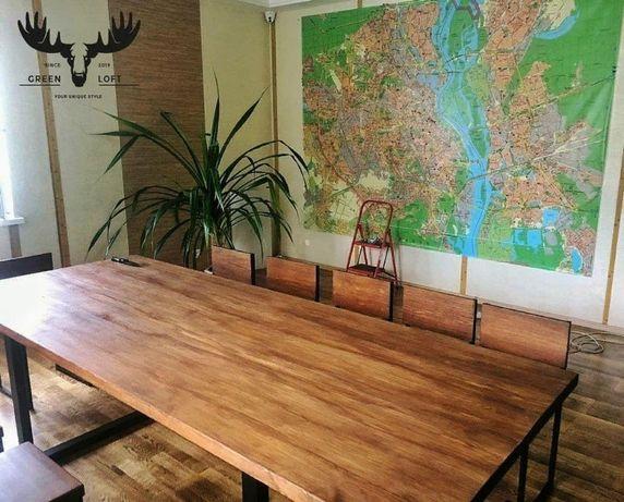 Стол для гостинной . Большой стол. Loft стол. Стол для переговоров.