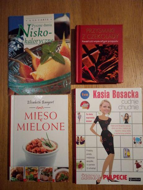 Zestaw 4 książek gotowanie / dieta / przepisy (wysyłka tylko 5zł!!)