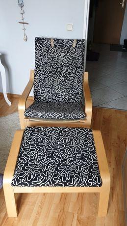 Fotel POÄNG z podnóżkiem IKEA