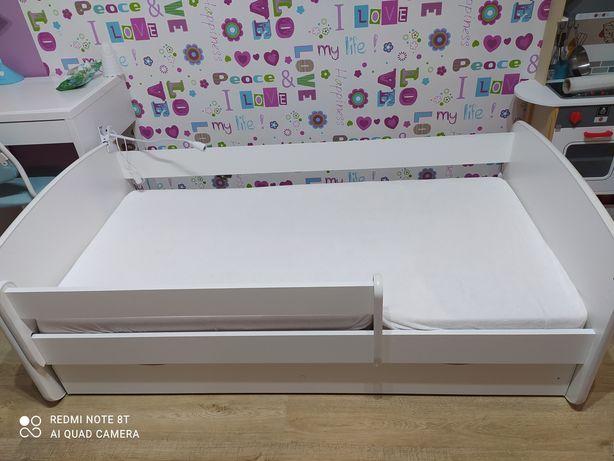 Łóżko dziecięce z materacem Baby Dreams 160x80 z szufladą