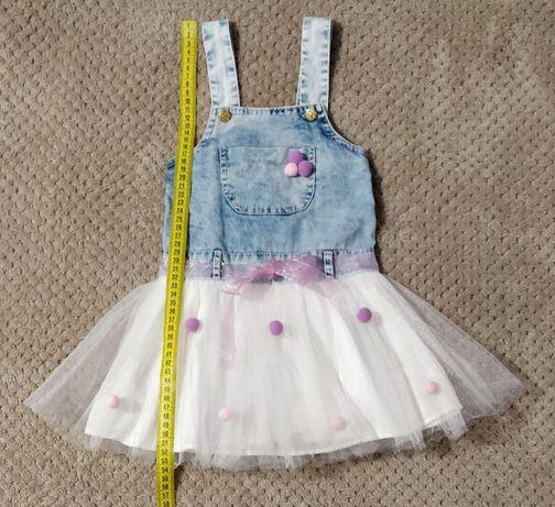 Детский джинсовый сарафан для девочки Picola