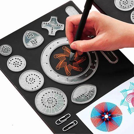 SPIROGRAF zestaw rysunkowy kreatywny edukacyjny dla małych i dużych