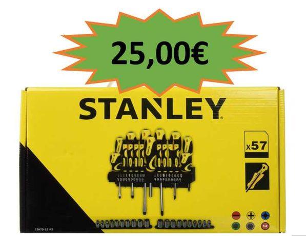 Conjunto Stanley 57 Pcs Chaves de Fenda e  Bits - NOVOS!!!