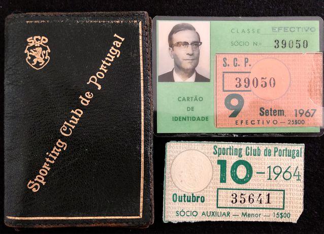 Bolsa e bilhete Cartão sócio SPORTING. 1967.