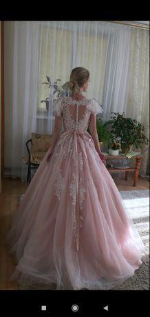 Весільна сукня пудрова.свадебное платье пудра