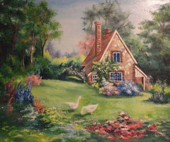 Картина написана маслом на полотні розміром 50х60