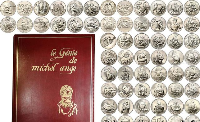 Le Genie de Michel Ange - Coleção medalhas prata - Miguel Angelo