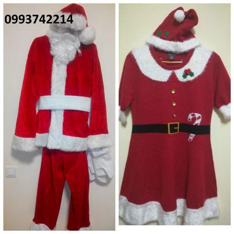 Новогодний костюм Дед мороз Санта Клаус морозко новый год снегурочка