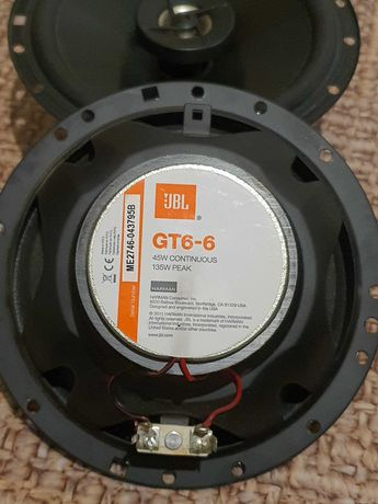 Двух компонентные динамики JBL GT6-6 165 мм 135 Вт