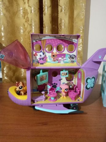Самолет Hasbro игровой набор зверюшек Littlest Pet Shop