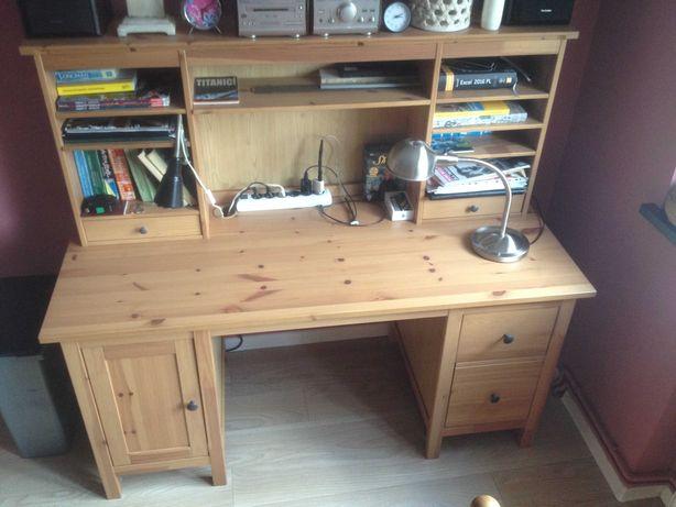 IKEA biurko HEMNES z nadstawką