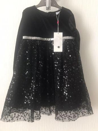 Бархатное платье для девочки OVS