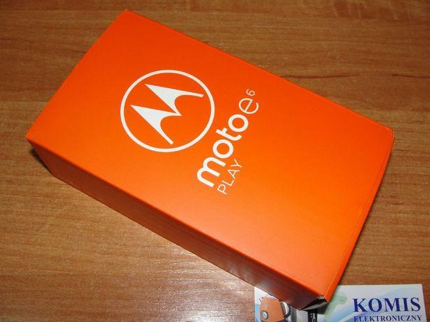 "Zaplombowana NOWA MOTOROLA E6 PLAY DS 5,5"" 2GB/32GB 13MPX/5MPX GW24M"