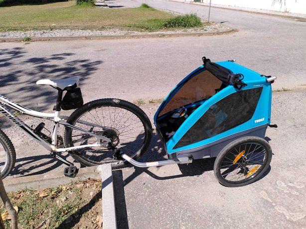 Atrelado bicicleta Thule Coaster XT - até 45 KG (1 ou 2 pessoas)