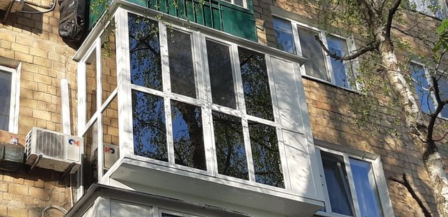 Балкон под ключ Остекление Французский Балкон Вынос Крыша