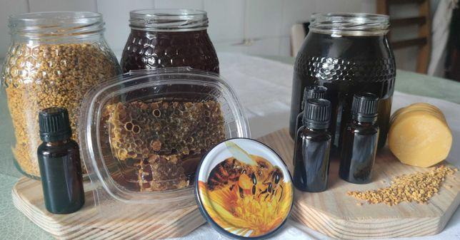 Mel, Pólen, Própolis, Favo de mel e cera de abelha - 100% puro