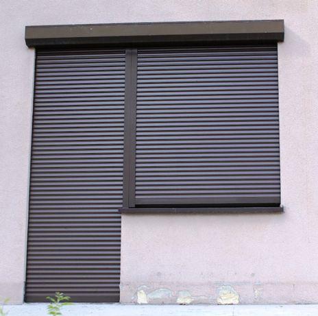 Drzwi balkonowe + witryna z roletą antywłamaniową