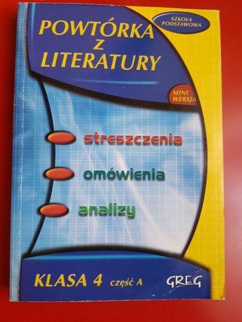 Opracowania wierszy i lektury język polski szkoła podstawowa greg