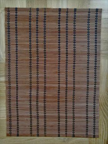 Podkładki (maty) bambusowe pod talerze na stół 33x43cm