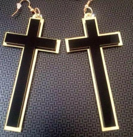 Kolczyki krzyże boho etniczne HIT