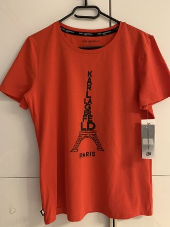 KARL LAGERFELD T-Shirt damski Weża Eiffla