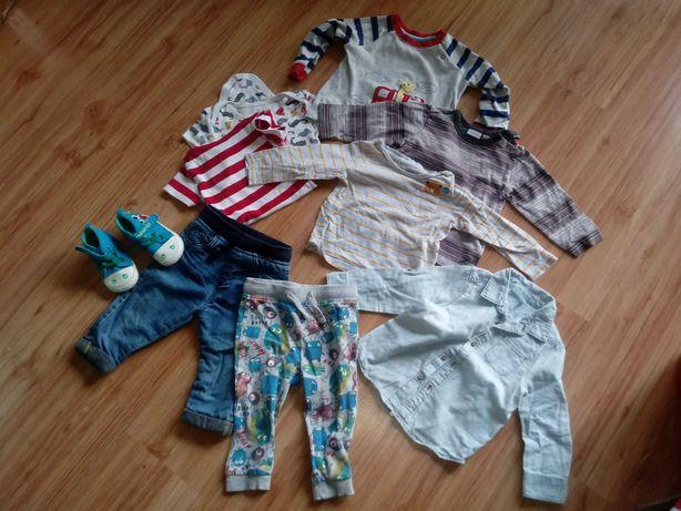 Mini paka body bluzki koszule spodnie dresy rozm  80