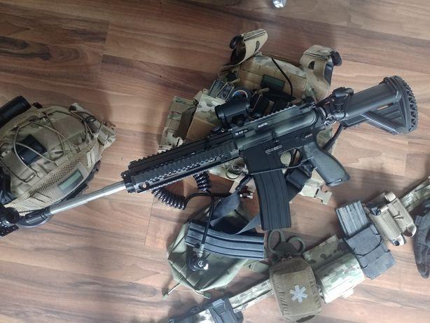 Konwersja karabin RAM rap4 Marker Paintball .43 wiatrówka ASG AR11 HPA