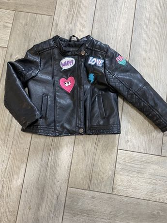 Детская кожанная  куртка , косуха,3-4 года