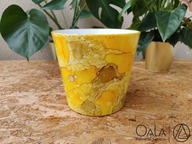 Osłonka/doniczka ręcznie malowana 19,5 cm