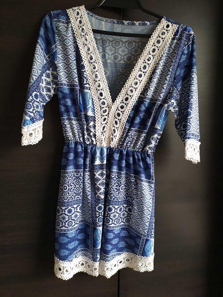 Sukienka tunika w azteckie wzory uniwersalny 36,38