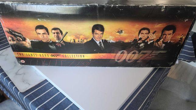 James Bond 007 VHS 19 filmów folia